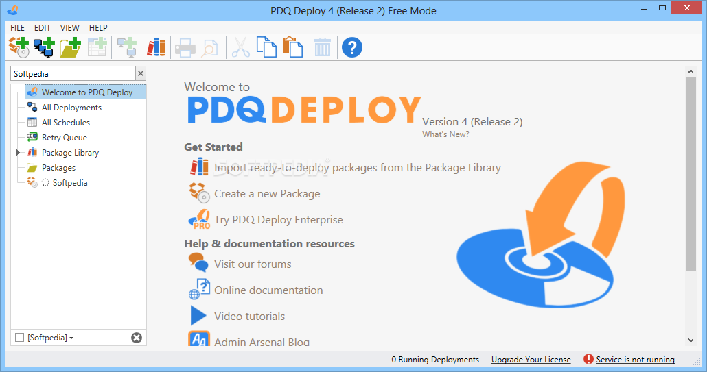 Screenshot of PDQ Deploy