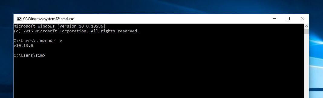 nodejs installation check
