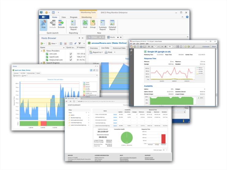 EMCO Ping Monitor Free screenshot