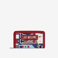 Gambar Untuk Love Moschino Faux Leather Wallet With Lettering ( Red )