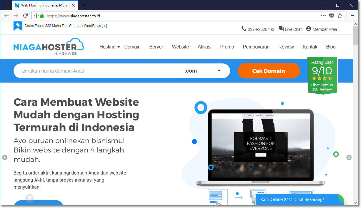 Review Lengkap Paket Shared Hosting NIAGAHOSTER