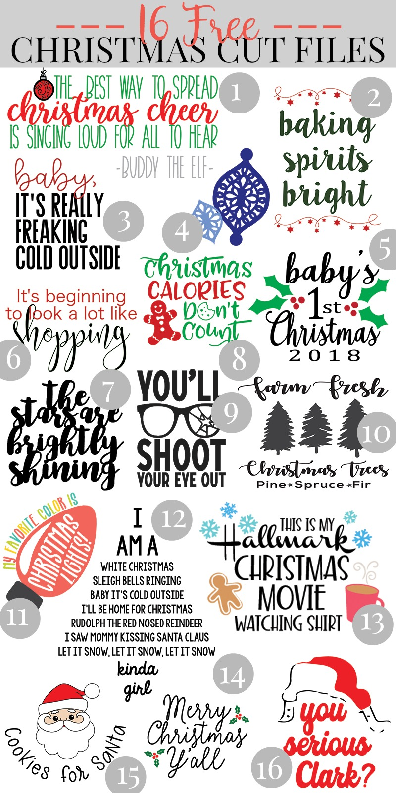 Download Christmas Svg Cut Files Free Cut Files Include Svg Dxf Eps And Png Files