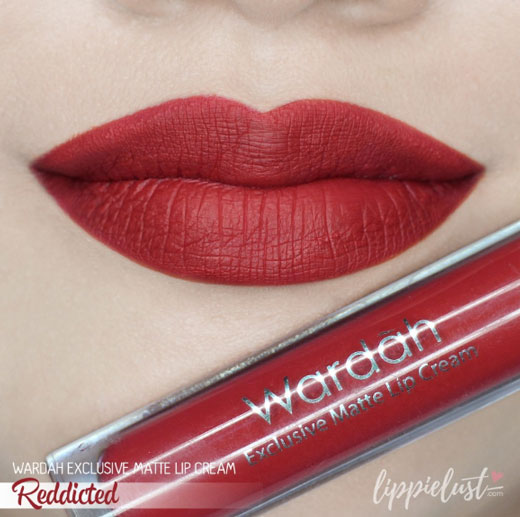 Lip Cream Wardah shade Red-dicted