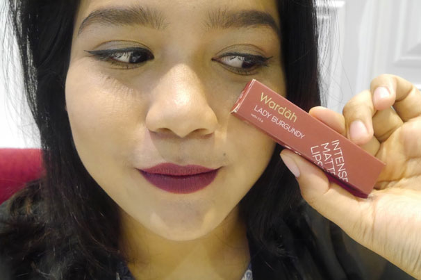Wardah Intense Matte Lipstick 12 Lady Burgundy