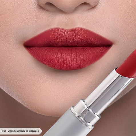 Wardah Intense Matte Lipstick, shade Retro Red (08)