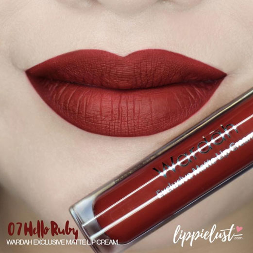 Wardah Exclusive Matte Lip Cream, shade Hello Ruby (07)