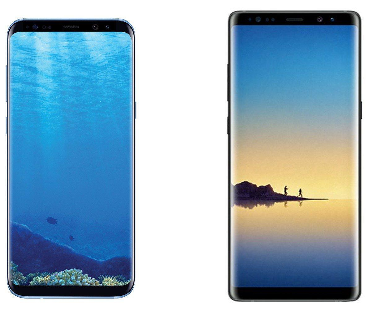 Galaxy Note 8 and Galaxy S8 side by side comparison