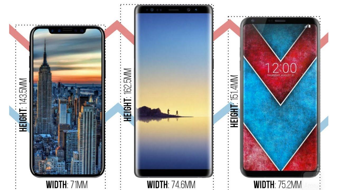 iPhone 8 vs Galaxy Note 8 vs LG V30