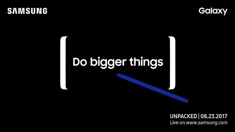 galaxy note 8 launch event poster