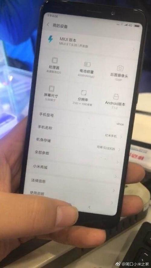 Xiaomi Redmi Note 5 Leaked