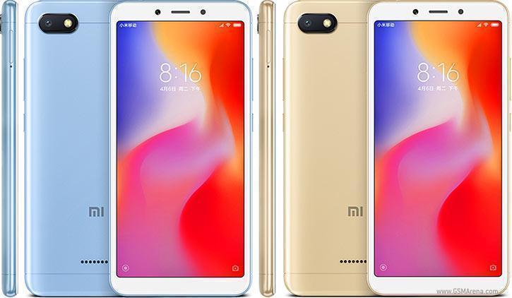 Redmi 6A in soft blue and gold color