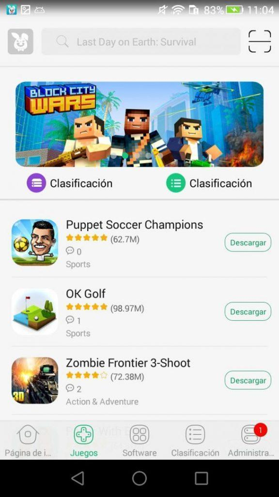 TutuApp for Android AppStore homepage