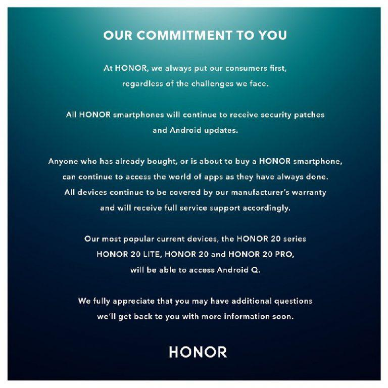Honor Android Q Update official poster