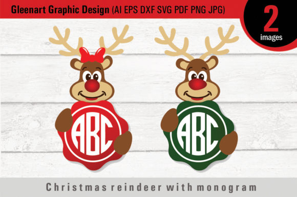 Download Reindeer Christmas Svg Free Cut Files Include Svg Dxf Eps And Png Files