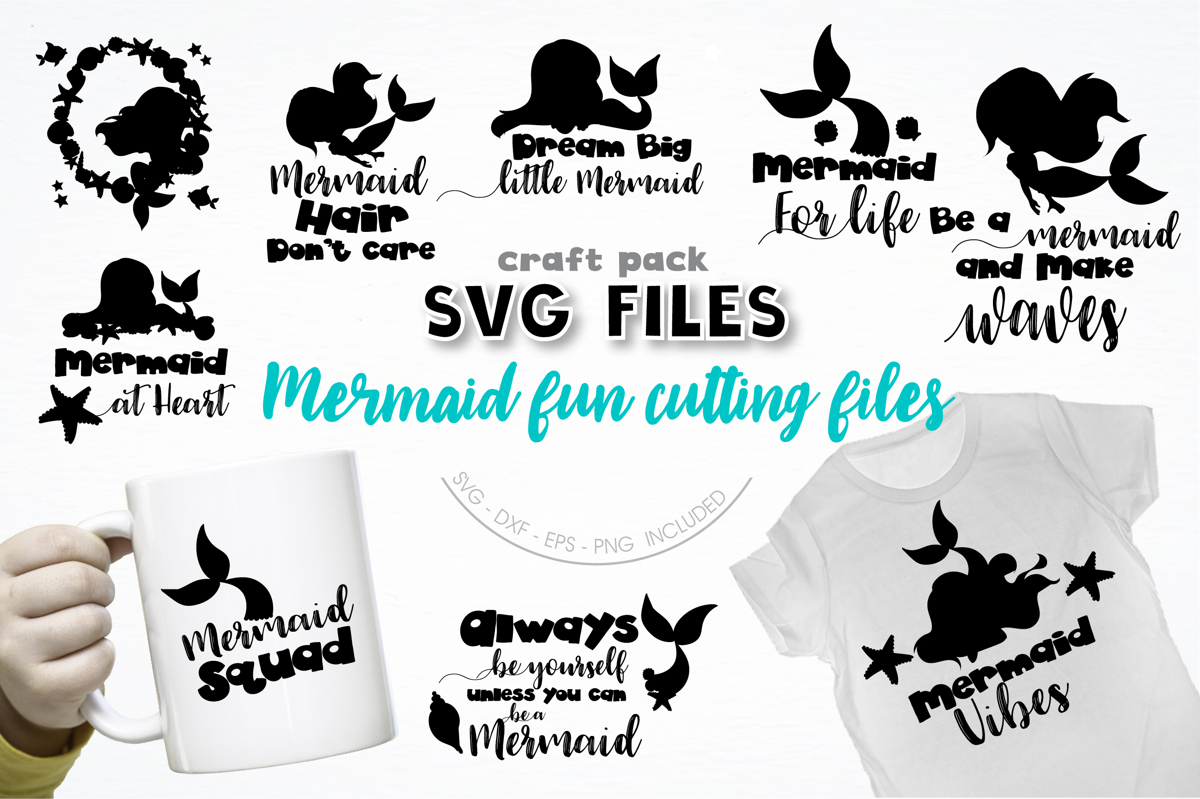 Download Silhouette Little Mermaid Svg Free Cut Files Include Svg Dxf Eps And Png Files