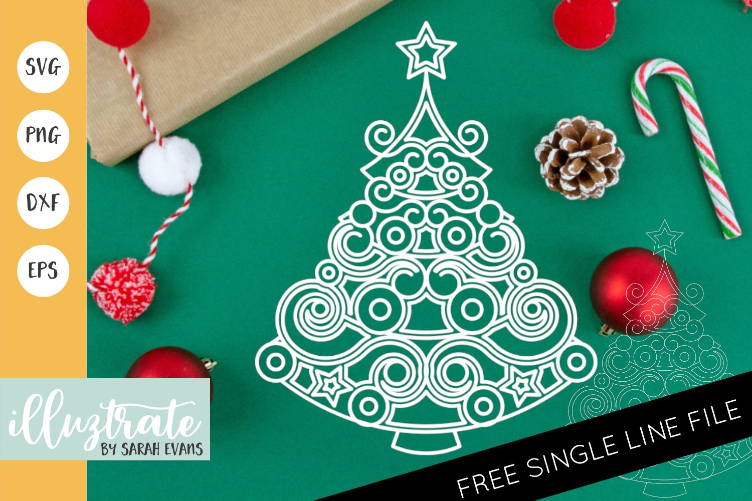 19+ Christmas Baubles Svg, Eps, Dxf And Png Cut Files DXF
