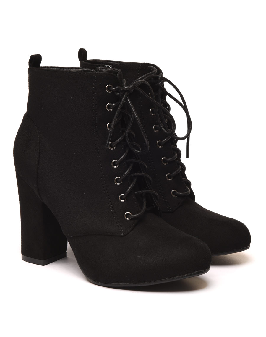 Bottines Lacets Noir 3