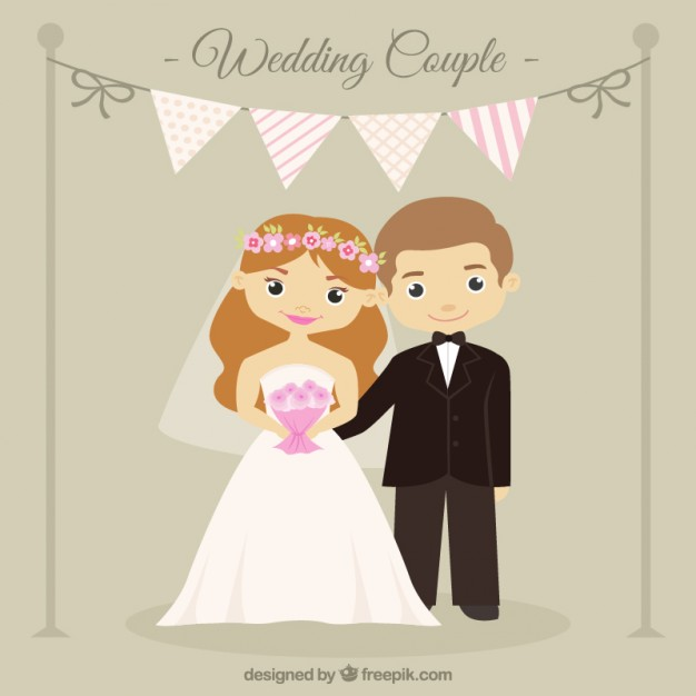 Wedding Cartoon Couple Cute 1